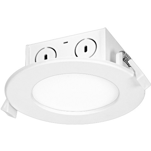 "Satco Lighting S29056 3000K LED Integrated Recessed Fixture 4"" Open Recessed Trim- IC Rated - image 1 of 1"