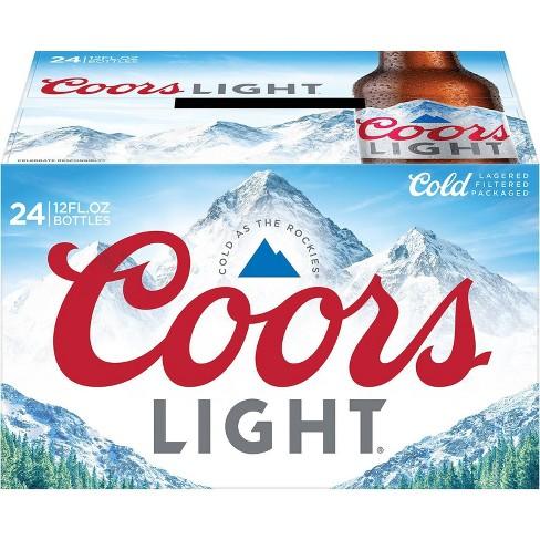 Coors Light Beer - 24pk/12 fl oz Bottles - image 1 of 4