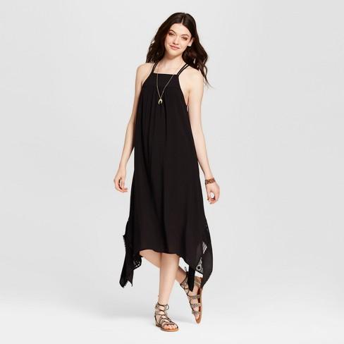34714ec94c533 Women's Sharkbite Maxi Dress - Xhilaration™ (Juniors') Black : Target