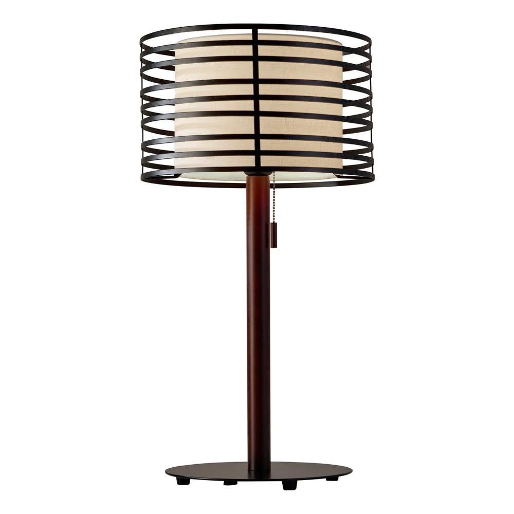 Reed Table Lamp (Lamp Only) - Adesso, Black