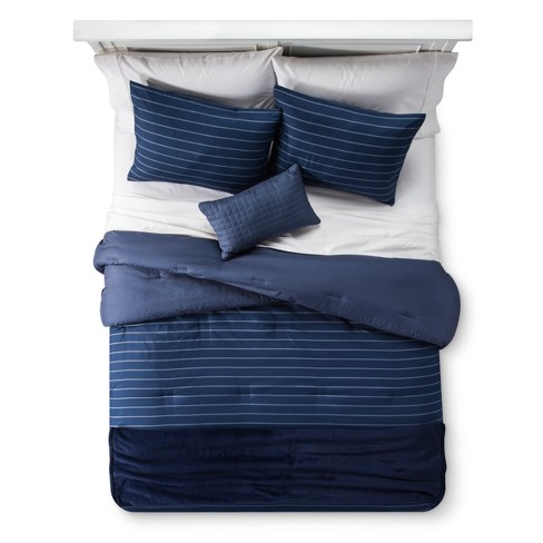Blue Stripe Comforter Set - Room Essentials™ - image 1 of 4