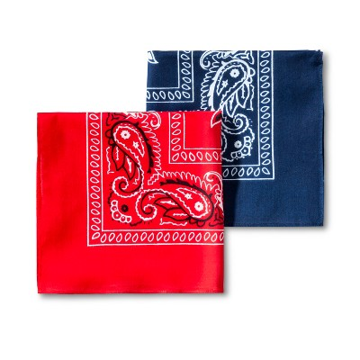 Men's 2pk Bandana Set - Goodfellow & Co™ Red/Blue One Size