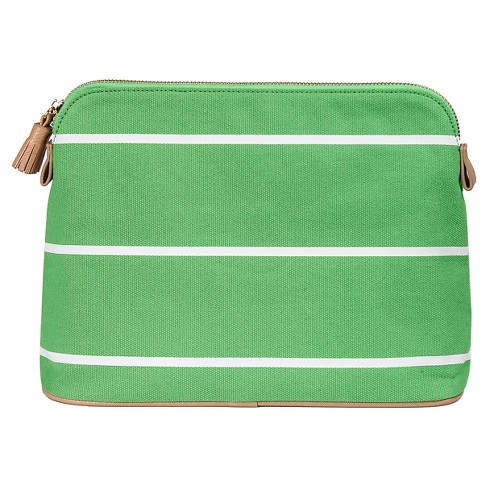 Cathy's Concepts Personalized Green Striped Cosmetic Bag - image 1 of 2