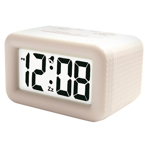 Rubber Alarm Clock White - Timelink® - image 1 of 1