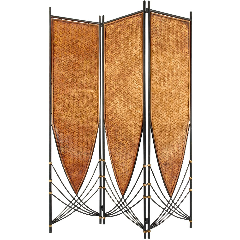 6' Tall Tropical Philippine Room Divider - Oriental Furniture, Brown