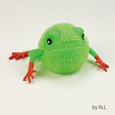 """Rite Lite 5"""" Green and Orange Passover Funny Squoosh Frog Party Tabletop Decor"""
