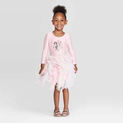 Toddler Girls' Disney Princess Tutu Dress - Pink 4T