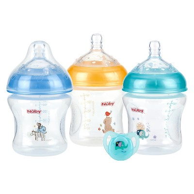 Nuby Natural Touch Baby Bottle Set of 3 - 6oz