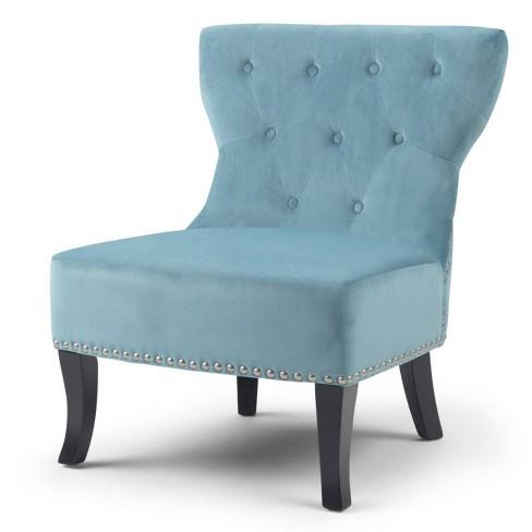"""28"""" Waterloo Accent Chair Mediterranean Blue - Wyndenhall - image 1 of 4"""