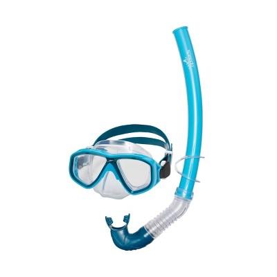Speedo Kids' Surf Gazer Mask & Snorkel Set - Blue/Atoll Clear