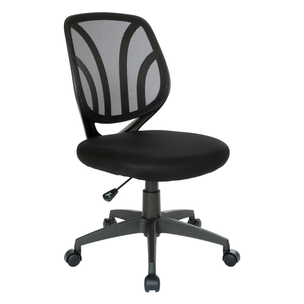 Screen Back Armless Task Chair Black - Office Star