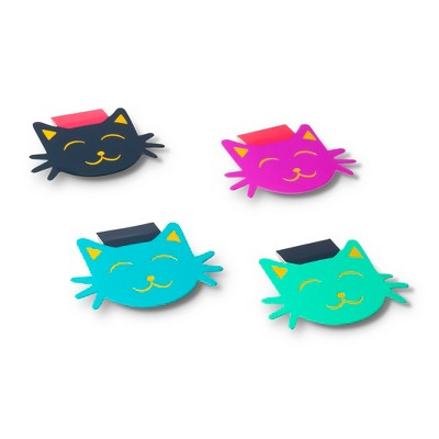 Dabney Lee Set of 4 Bookmarks with Magnets - Cats