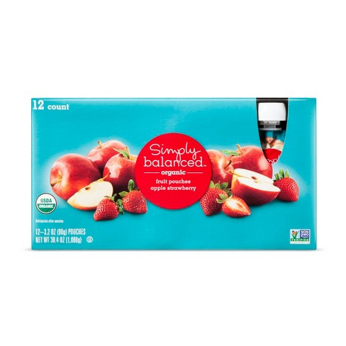 Mixed Fruit Pouches 12ct / 3.2oz - Simply Balanced™ - image 1 of 1