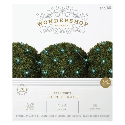 70ct Christmas LED Mini Net Lights Cool White - Wondershop™ - image 1 of 1