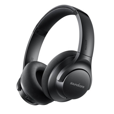 Soundcore by Anker Life 2 Active Noise Canceling Wireless Bluetooth Over-Ear Headphones – Black