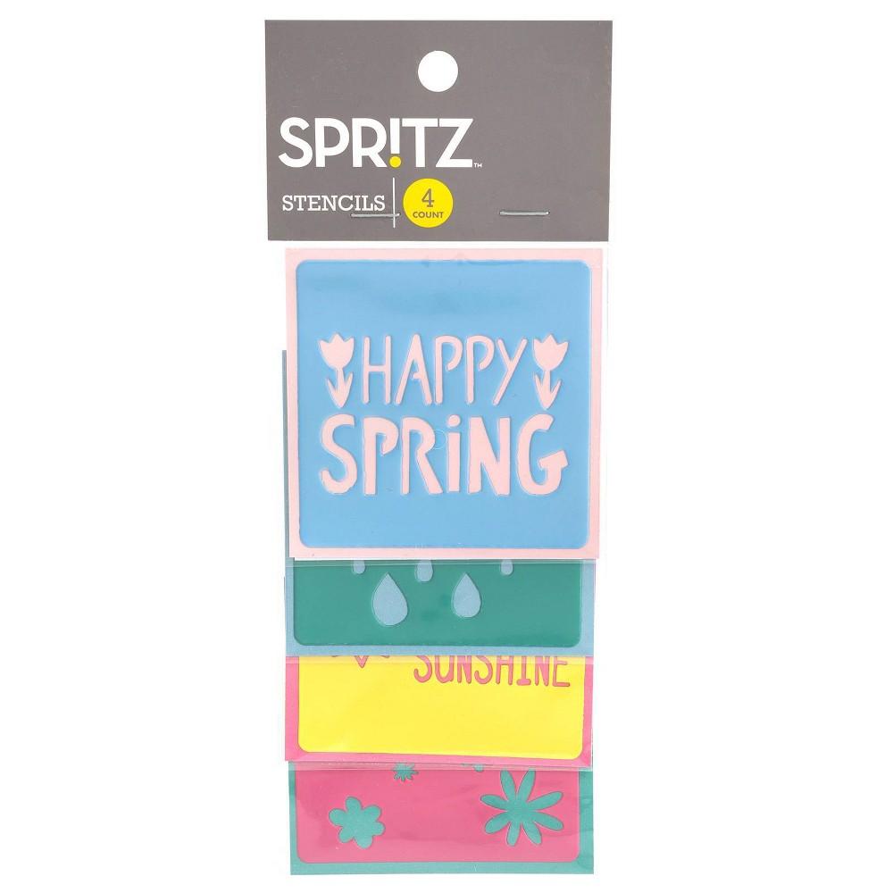 Image of 4ct Happy Spring Stencils - Spritz