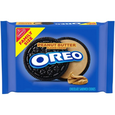 Oreo Peanut Butter Flavor Creme Chocolate Sandwich Cookies Family Size - 17oz - image 1 of 4