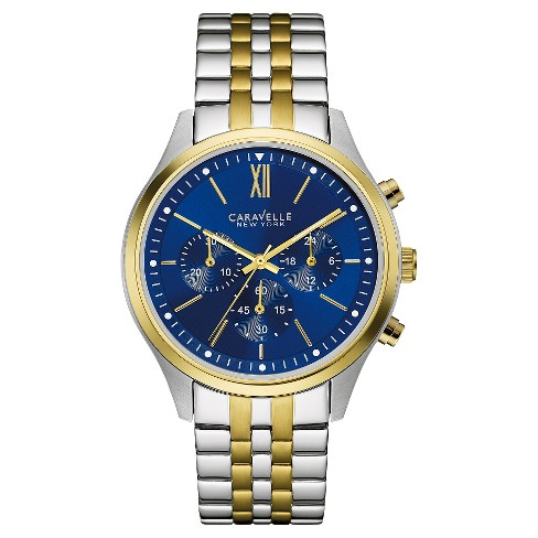 Caravelle New York by Bulova Men's Chronograph Two-Tone Stainless Steel Bracelet Watch - 45A131 - image 1 of 1