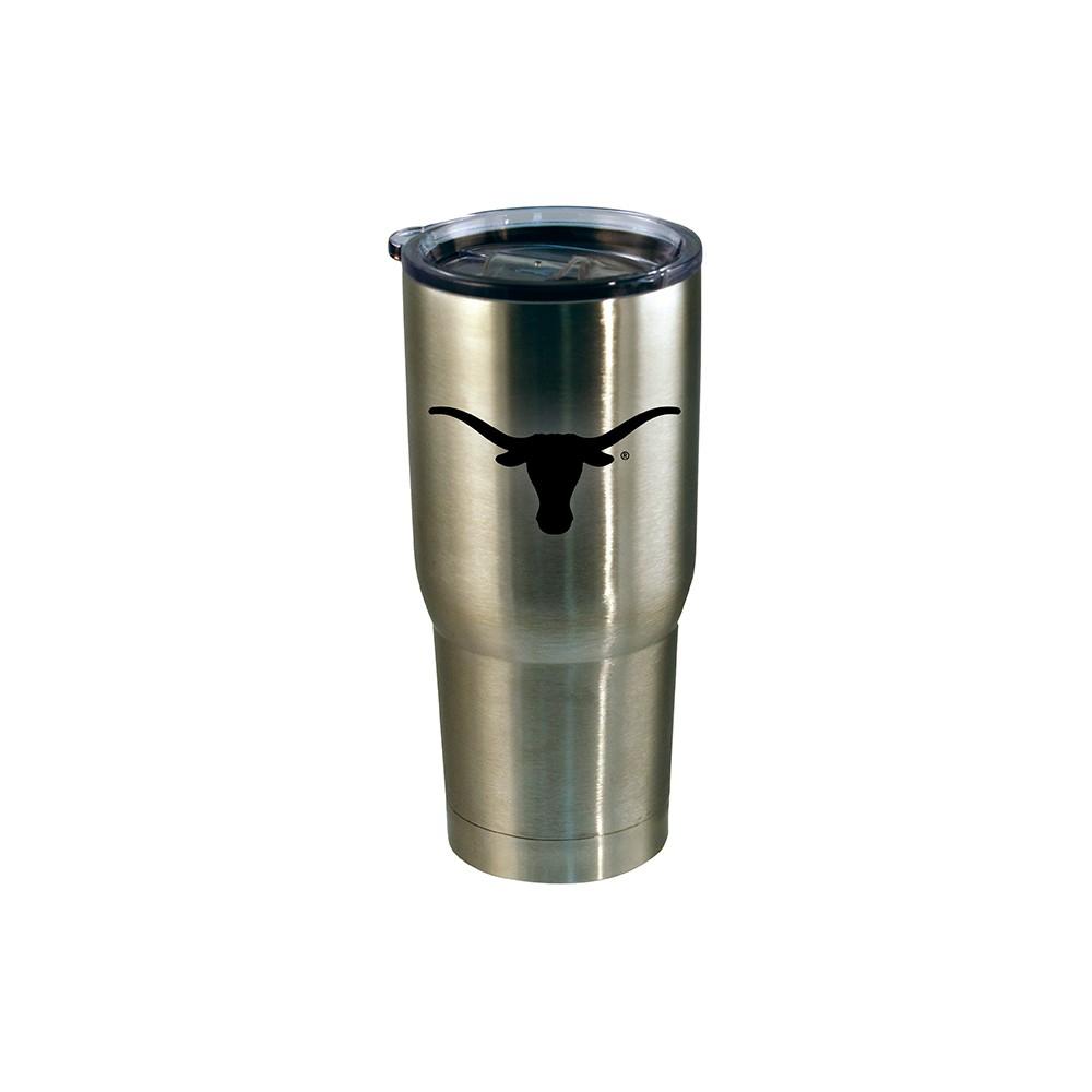 Texas Longhorns Stainless Steel Retro Logo Tumbler - Black - 20oz