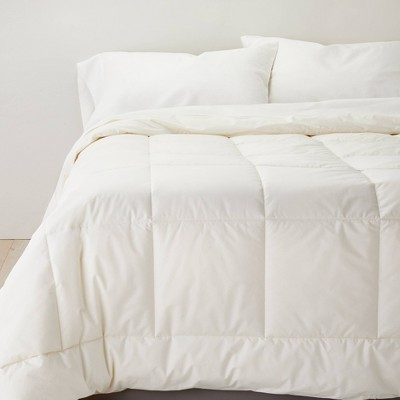Full/Queen Natural Wool Blend Machine Washable Comforter with 100% Cotton Shell - Casaluna™