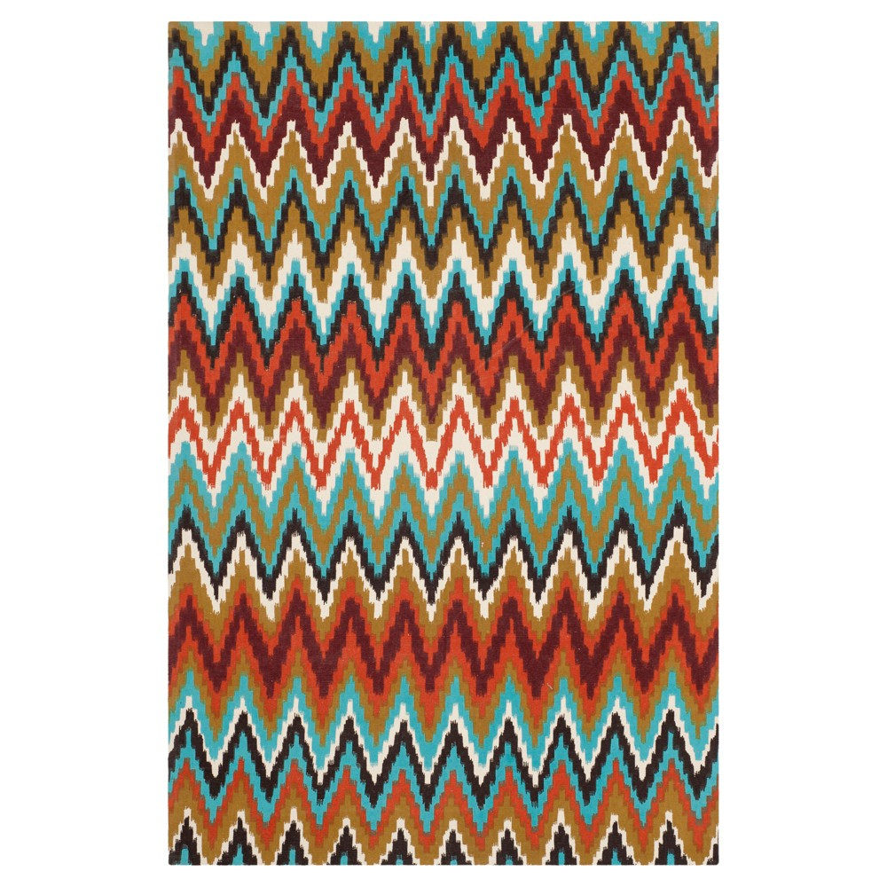Kirkly Area Rug - Teal/Red (5'x8') - Safavieh, Blue/Red