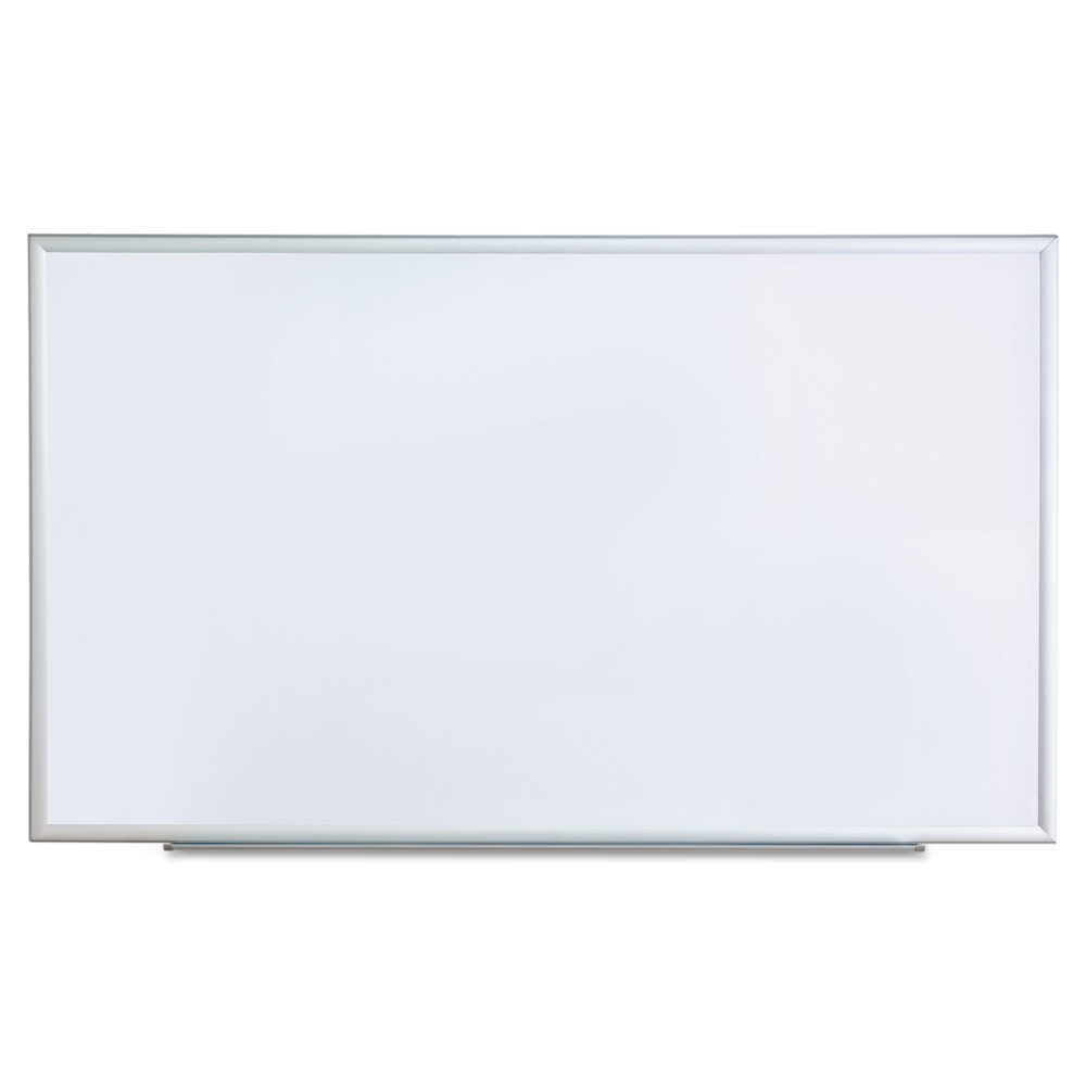 Universal Dry Erase Board, Melamine, 24 x 18, Aluminum Frame (44618), Silver White