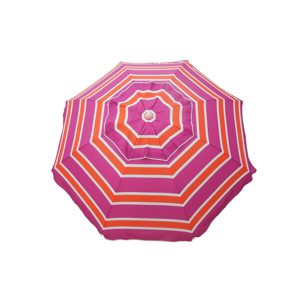 7' Beach Umbrella with Travel Bag - Orange/Pink - Parasol