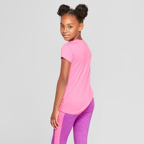 921df84b Girls' Power Strength Heart Graphic Tech T-Shirt - C9 Champion® Light Pink