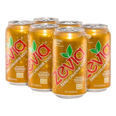 Zevia Cream Soda Zero Calorie Soda - 6pk/12 fl oz Cans