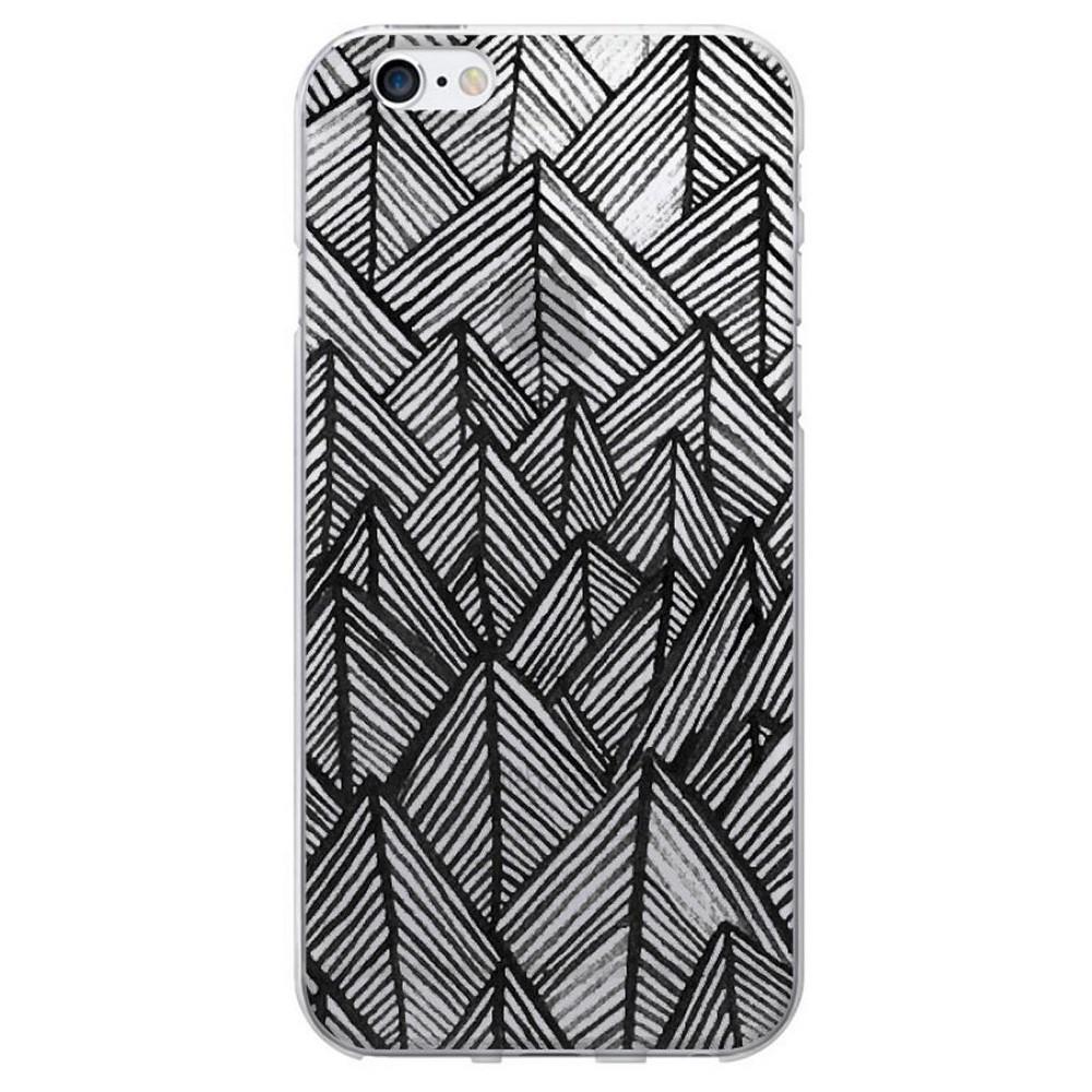 iPhone 6/6S Case - Otm Artist Prints Clear - Rocks Ebony
