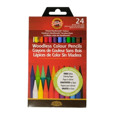 Progresso Woodless Colored Pencils 24ct - Koh-I-Noor