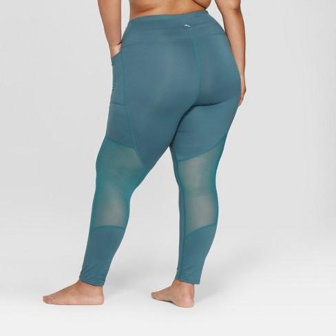 ce9da5ab2fe Women s Plus Size Comfort 7 8 Mesh Panel High-Waisted Leggings - JoyLab™    Target
