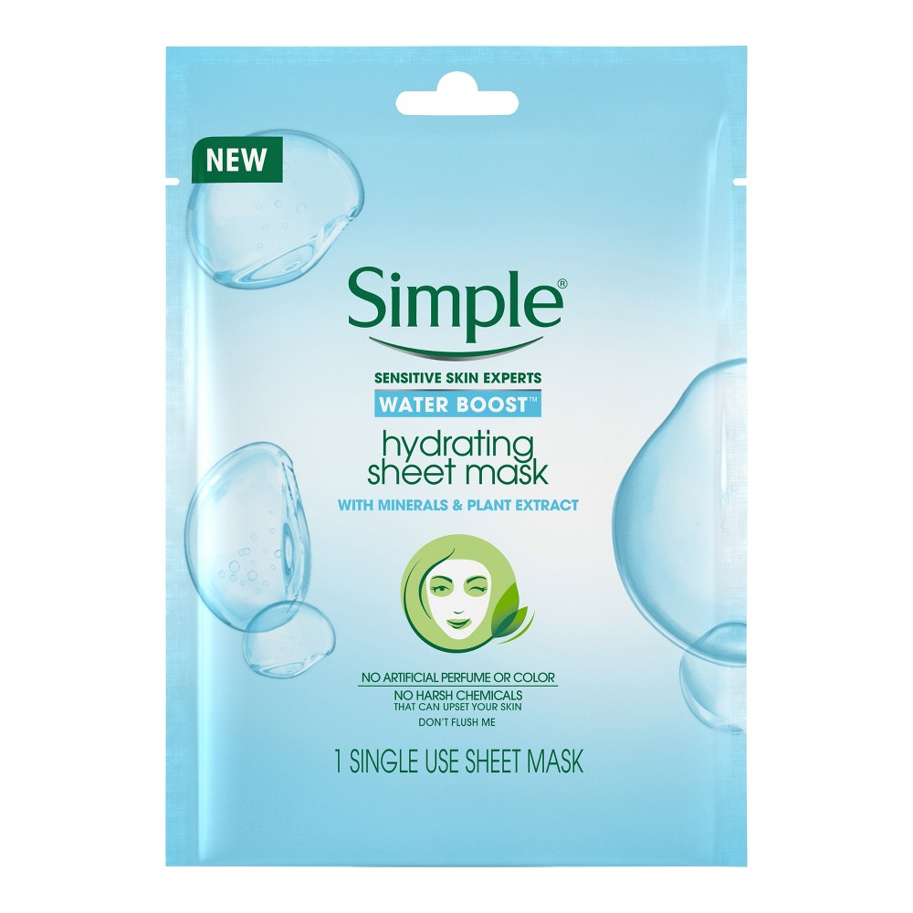 Unscented Simple Micellar Water Boost Sheet Mask - 1ct