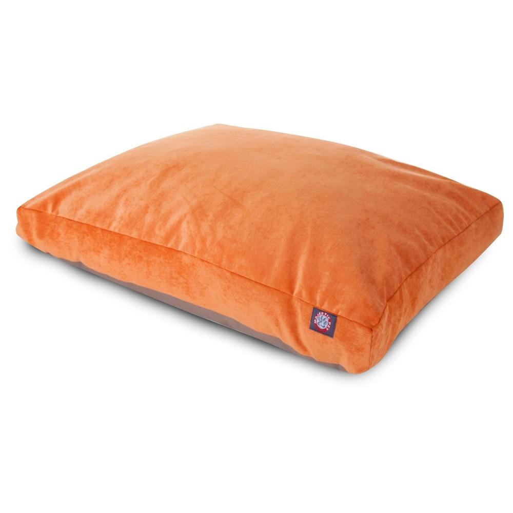 Majestic Pet Villa Collection Rectangle Dog Bed - Orange - Large