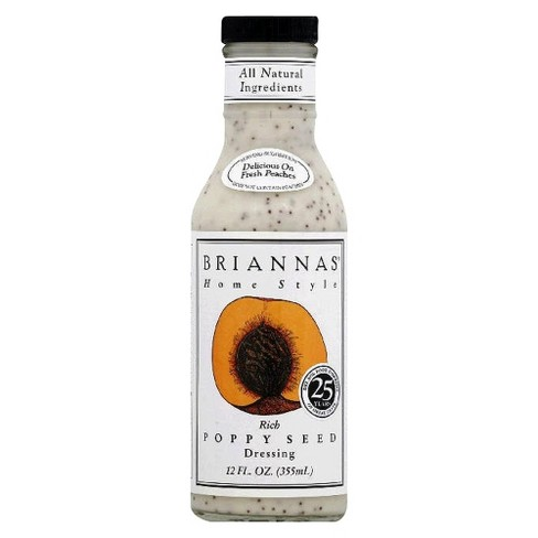 Briannas® Home Style Rich Poppy Seed Salad Dressing - 12 fl oz - image 1 of 1