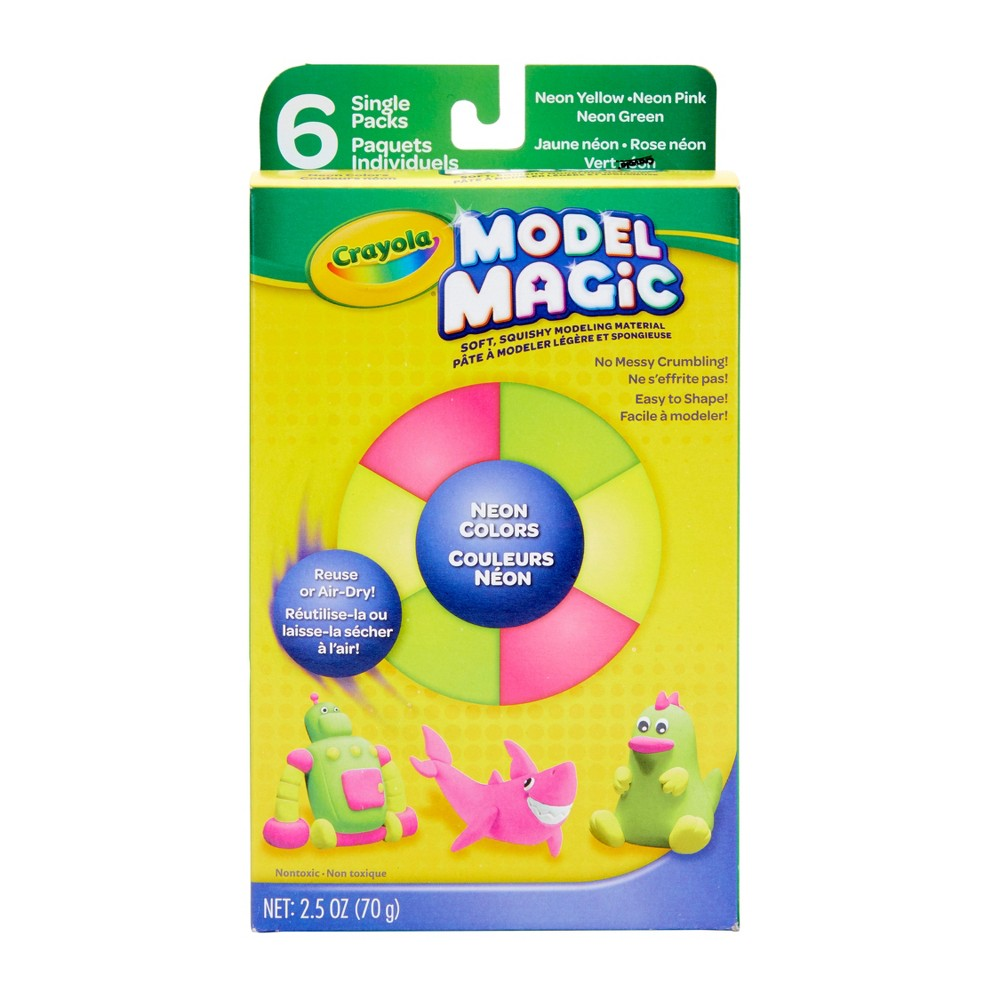 Image of Crayola Model Magic 6pk Modeling Clay - Neon