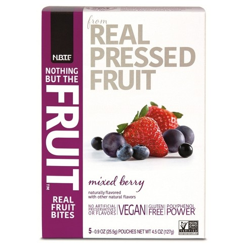 Nothing But The Fruit Mixed Berry Real Fruit Bites - 4.5oz - image 1 of 1