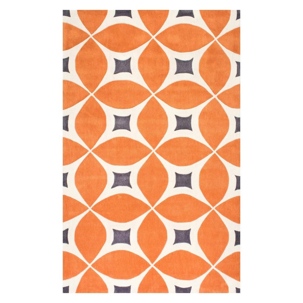 Orange Solid Tufted Area Rug 6'X9' - nuLOOM, Deep Orange