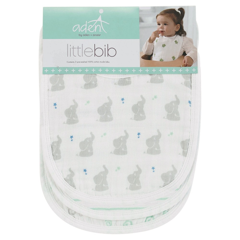 Image of Aden + Anais 3pk Little Bibs Set - Baby Star