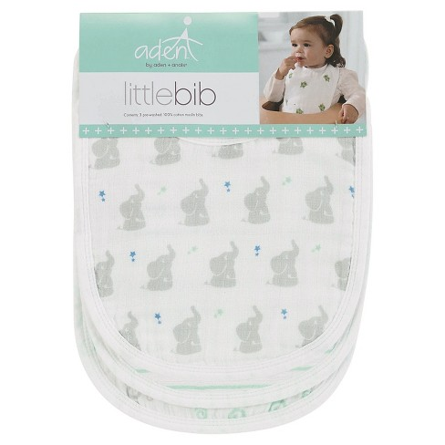 Aden + Anais 3pk Little Bibs Set - Baby Star - image 1 of 4