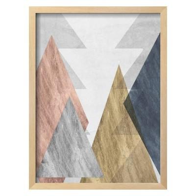Peaks II By Jennifer Goldberger Framed Wall Art Poster Print 16 x21  - Art.com