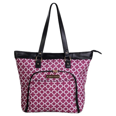 "Jenni Chan Aria Broadway 18"" Computer Tote - Cranberry - image 1 of 1"