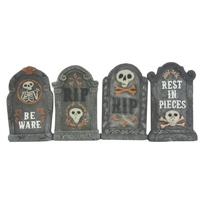 17'' Halloween Foam Tombstones Gray 4ct - Hyde and Eek! Boutique™