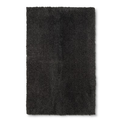 38 x24  Tufted Spa Bath Rug Dark Gray - Fieldcrest®