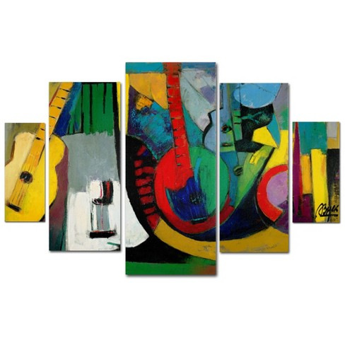 'Strings' by Boyer Ready to Hang Multi Panel Art Set - image 1 of 3