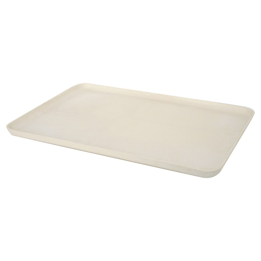 "Image of ""Biobu by Ekobo Gusto Serving Tray 8.5""""x.75"""" - White"""