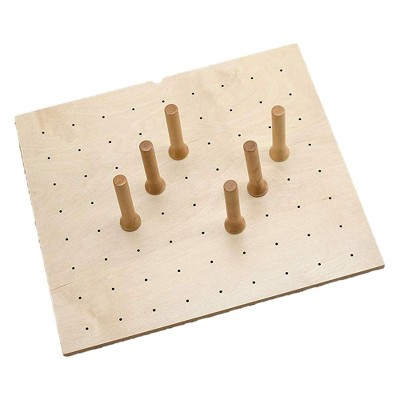 Rev-A-Shelf 4DPS-2421 Small 24 x 21 Inch Wood Peg Board System for Deep Drawers Organizer with 9 Pegs and Exact Fit Customization, Natural Maple