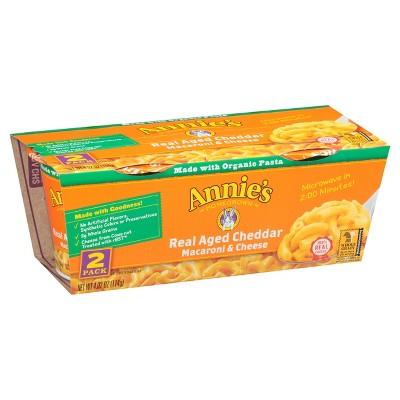 Annie's Macaroni & Cheese Real Aged Cheddar 2pk