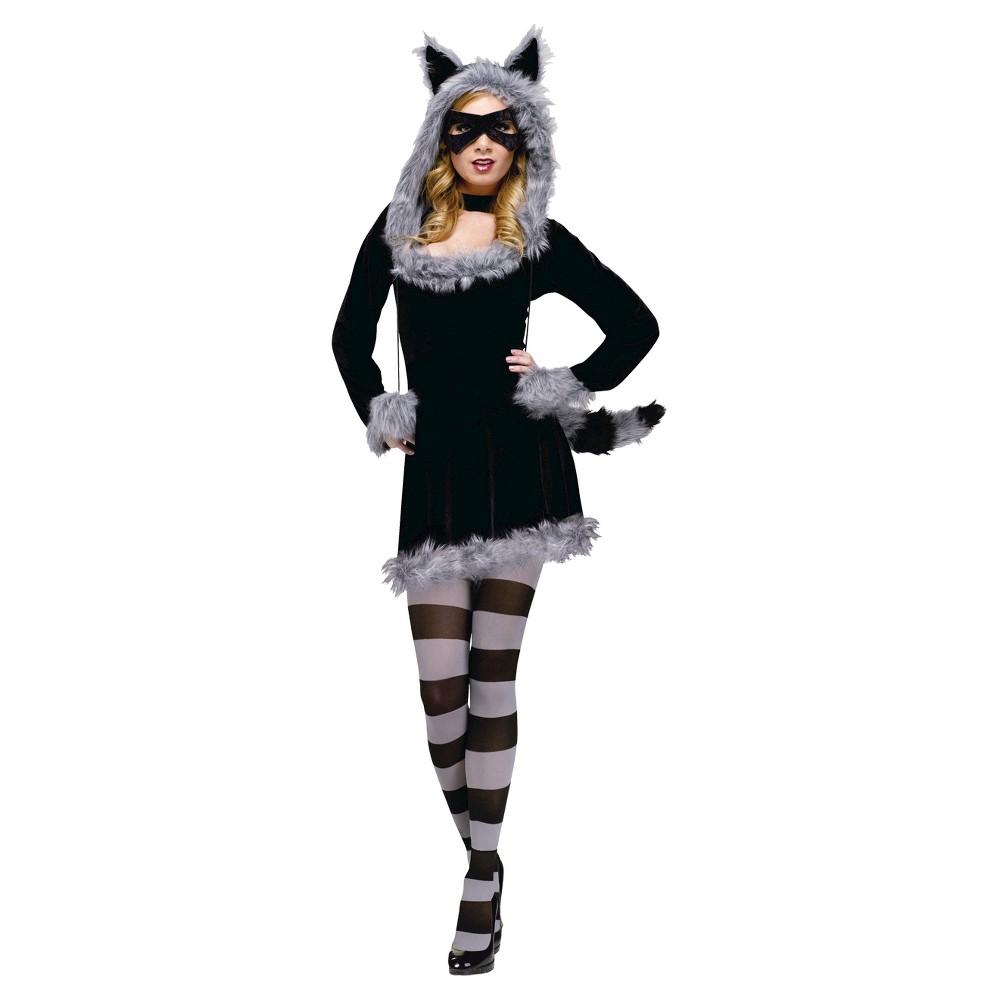 Women's Raccoon Costume - One Size, Black