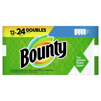 Bounty Select-A-Size Paper Towels - 12 Double Rolls